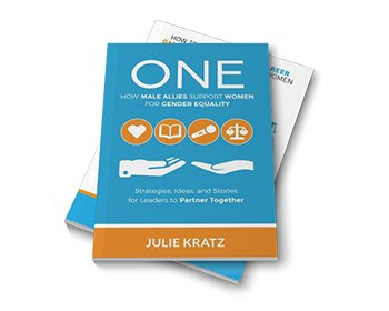 Julie's book 'One' on how male allies support women for gender equality