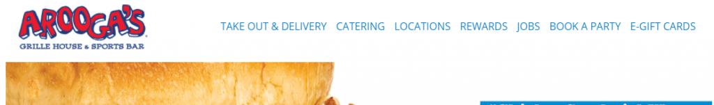 Restaurant Website Navigation