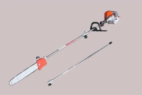 How to use gas pole saw