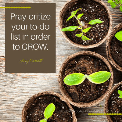 Pray-oritize your to-do list