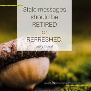 Making a Stale Message Fresh Again: Part 1