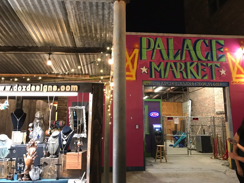 the Palace Market in Frenchmen St New Orleans