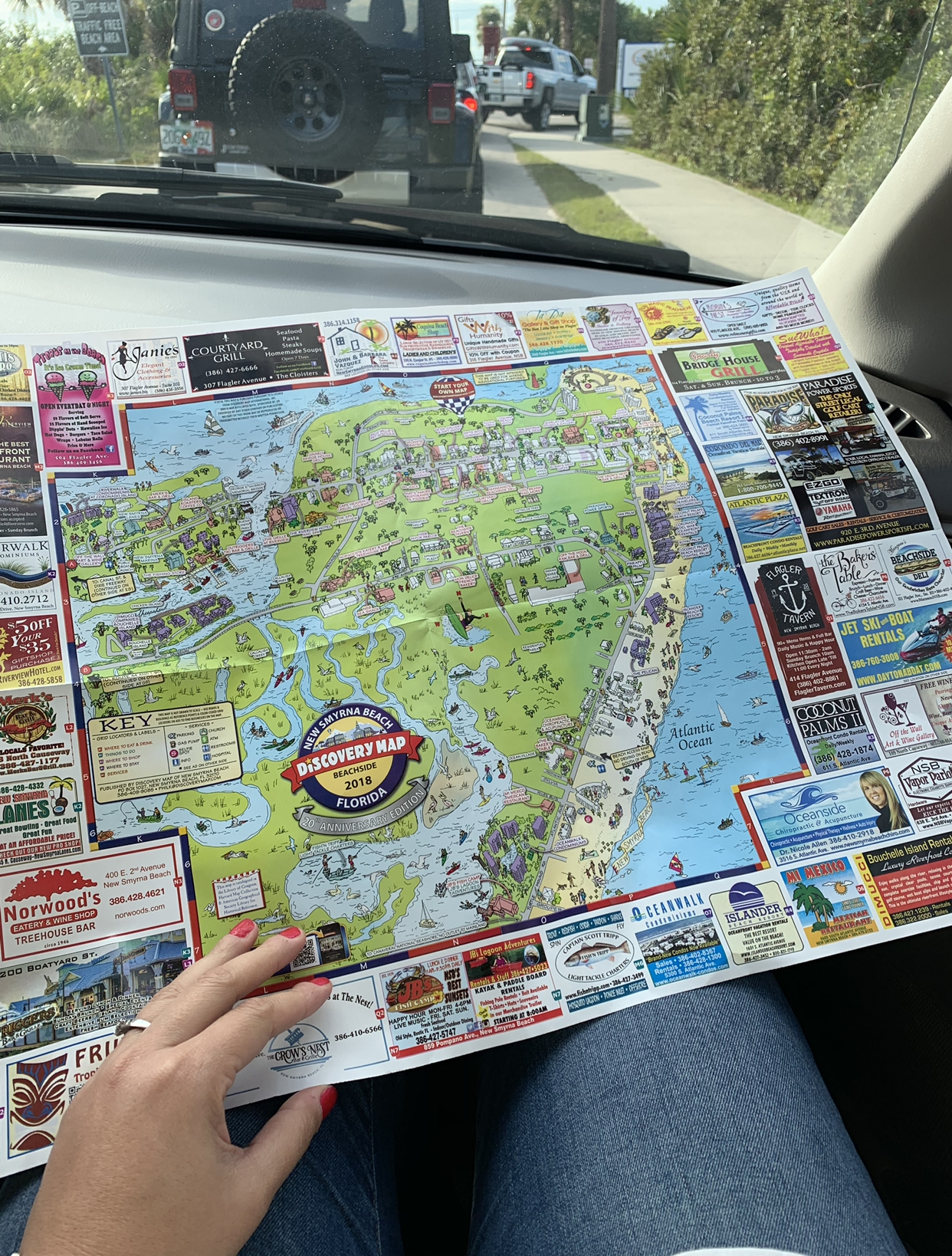 road trip essentials discovery map
