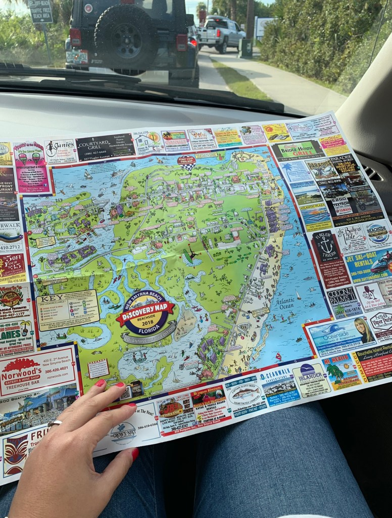 traveling to New Smyrna Beach Discovery Map