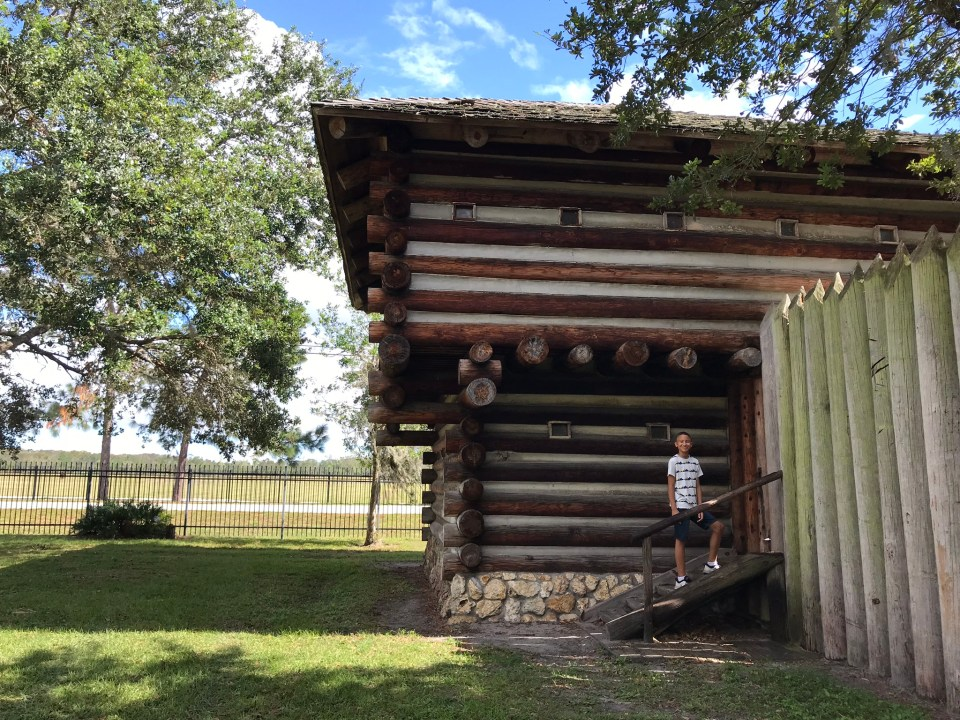 replica of 1837 fort in Fort Christmas