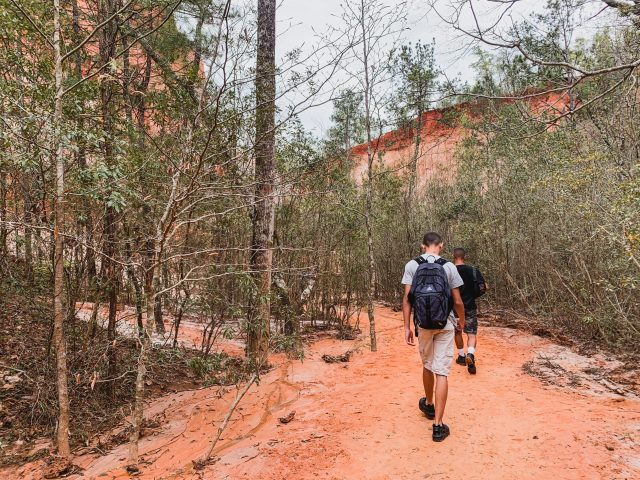 Hiking trails at Providence Canyon State Park