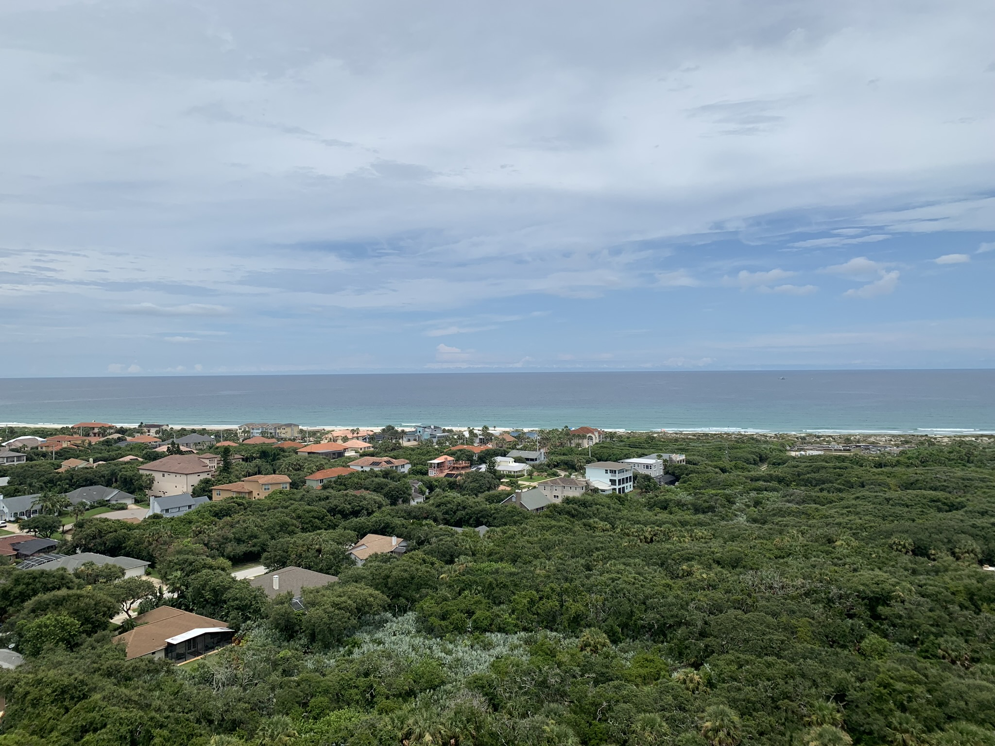 the view from the top of Florida's tallest lighthouse