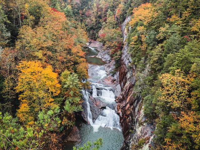 L'Eau d'Or Falls at Tallulah Gorge State Park