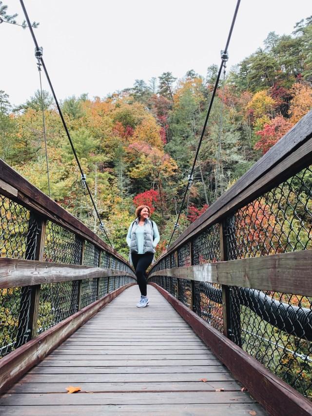 suspension bridge at Tallulah Gorge