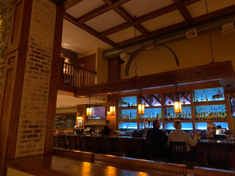 inside the Mystic Grill bar
