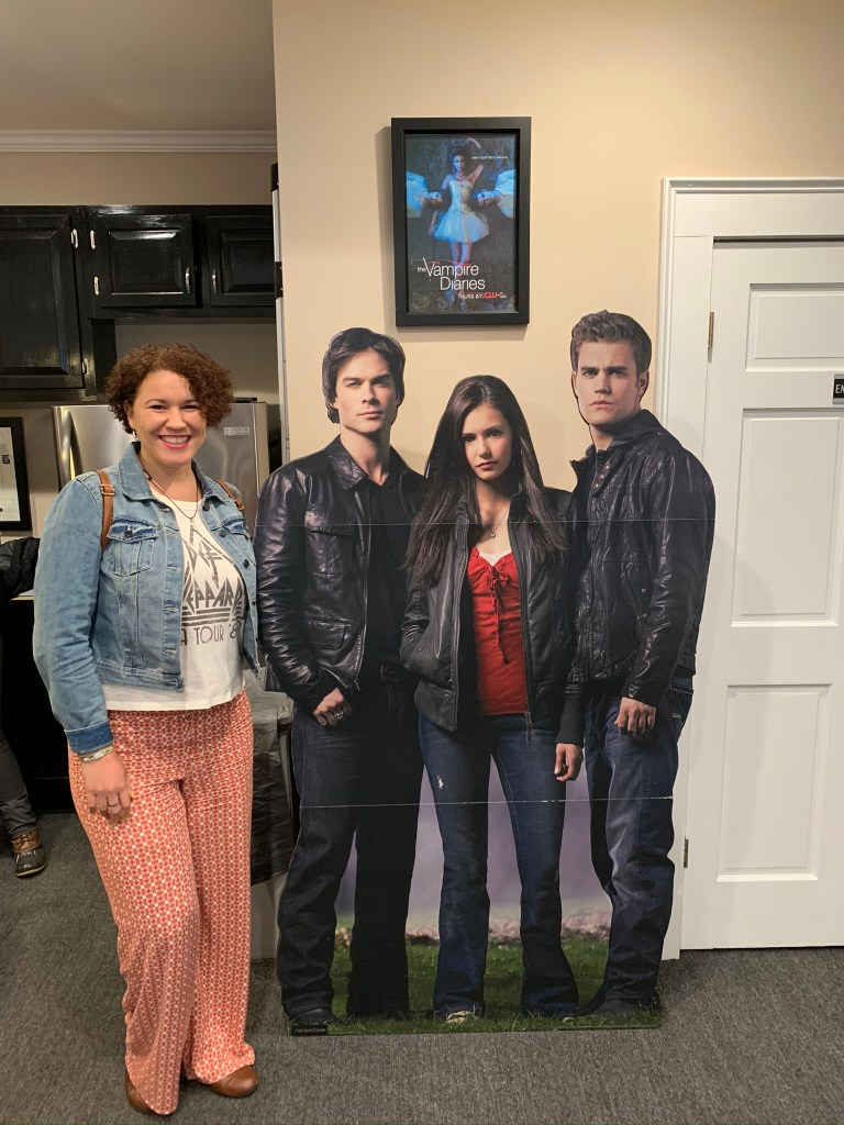 Vampire Diaries props at the Covington welcome center