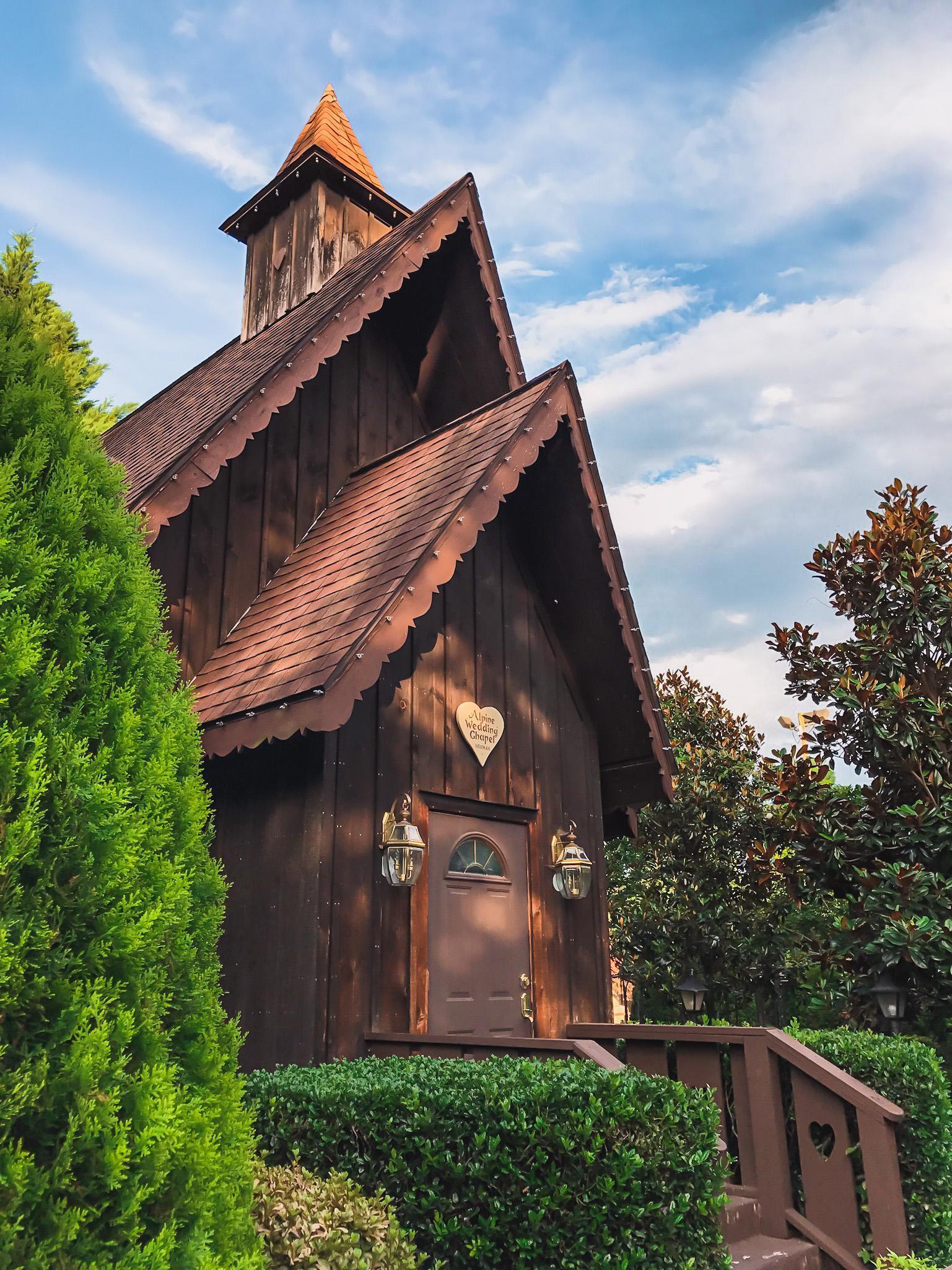 alpine helen wedding chapel in the Bavarian town in Georgia