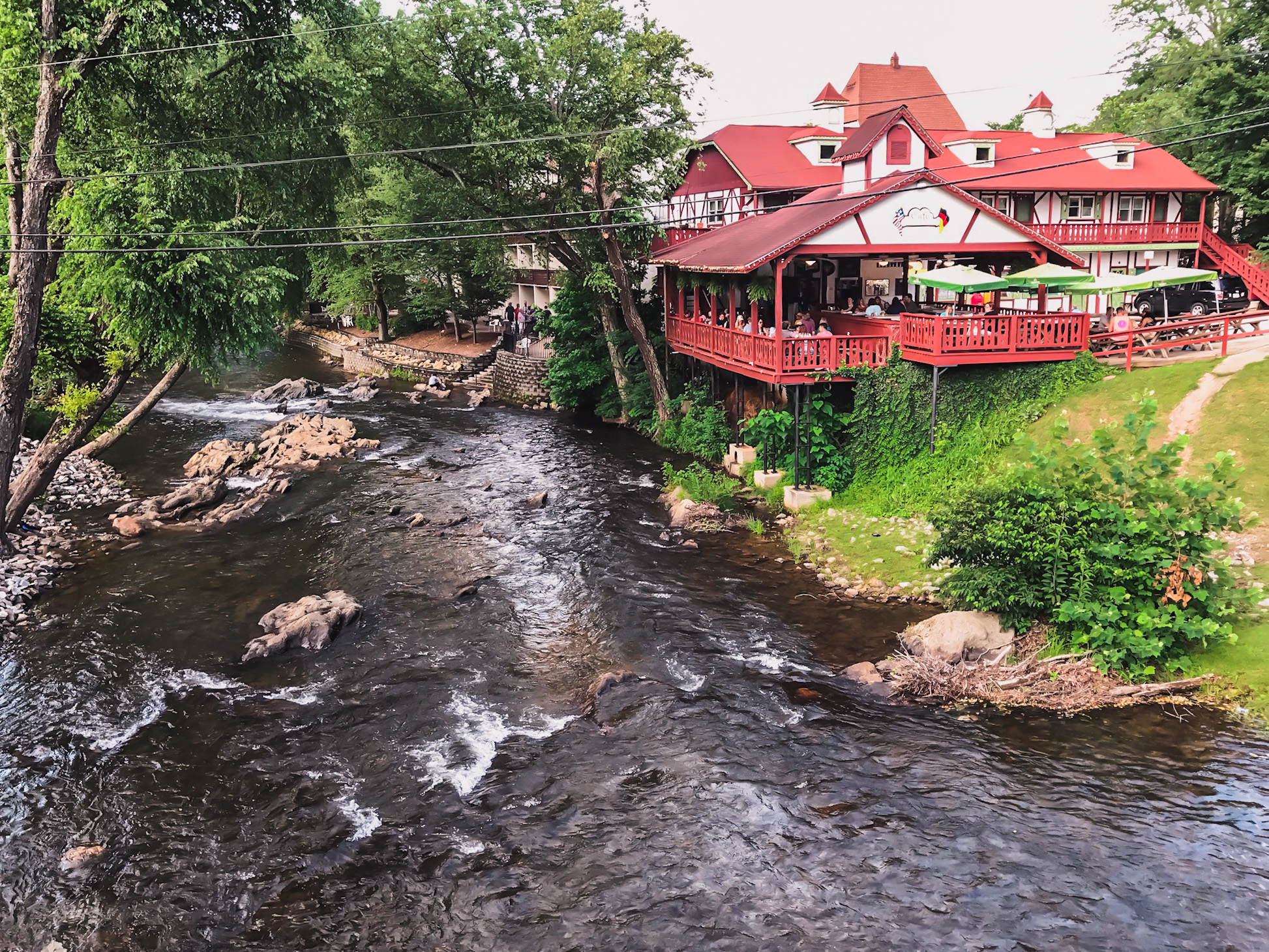 riverfront restaurants in the Bavarian town in Georgia