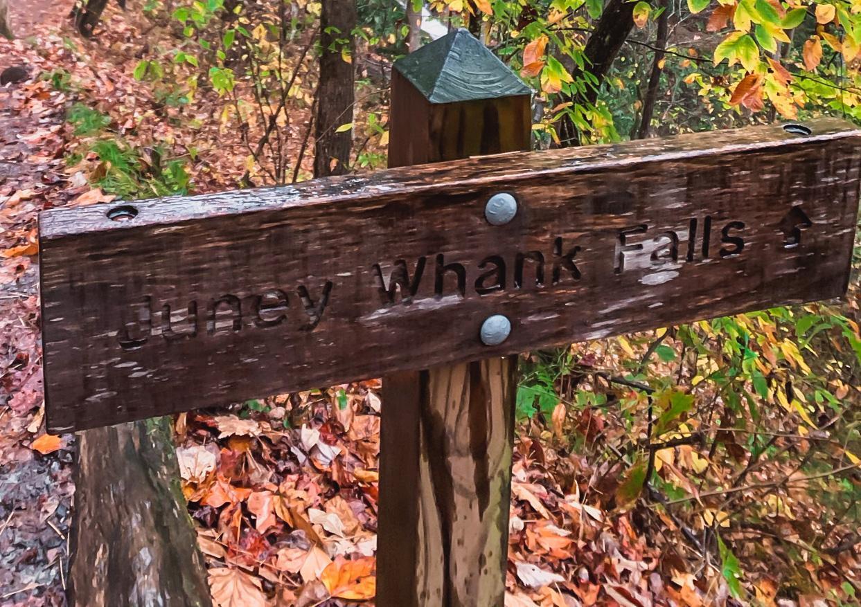 juney whank falls trailhead