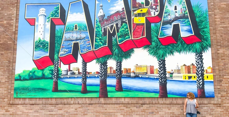 downtown tampa postcard mural