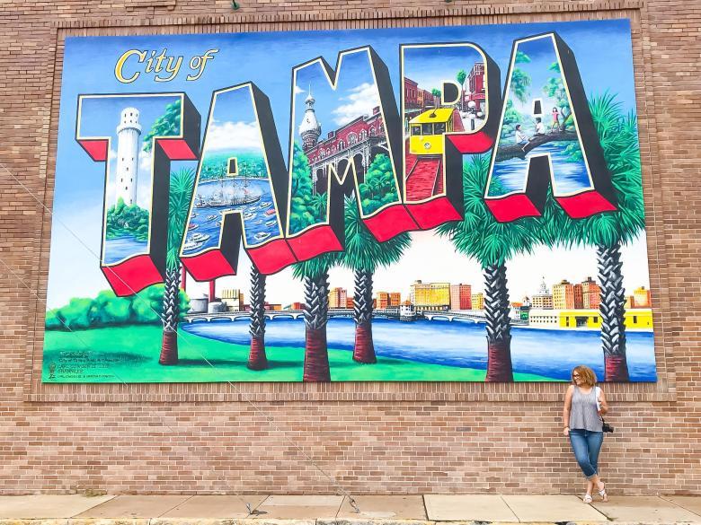Downtown Tampa postcard