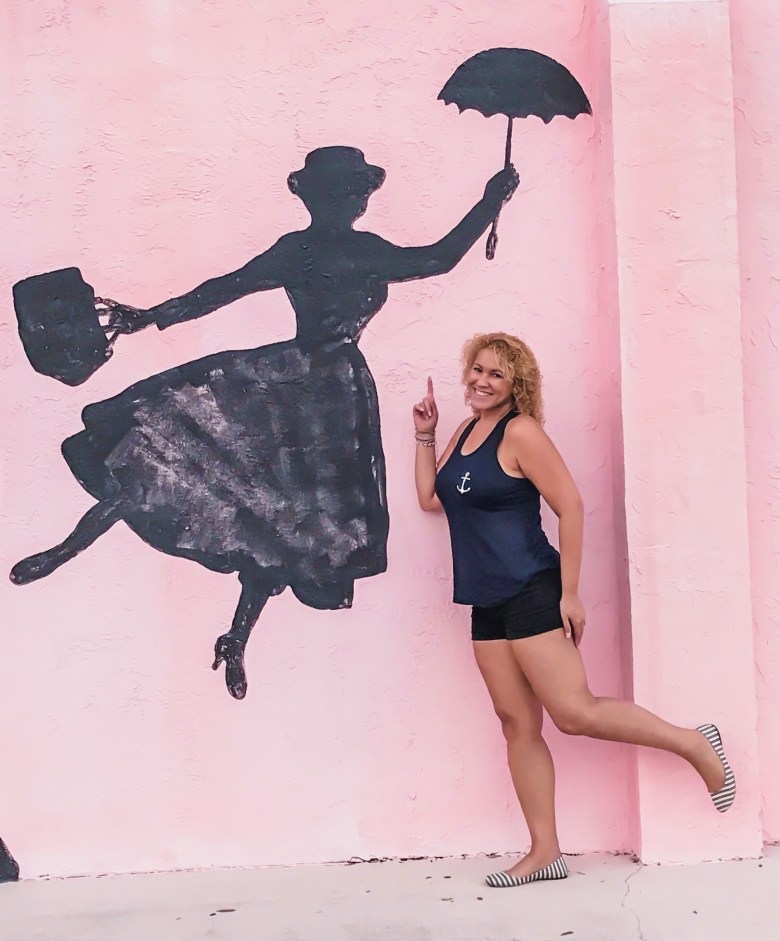 mary poppins silhouette mural art in Melbourne Florida
