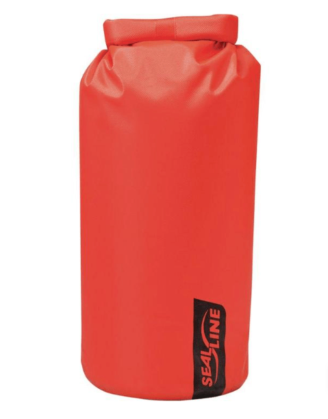 red dry bag for hiking in water