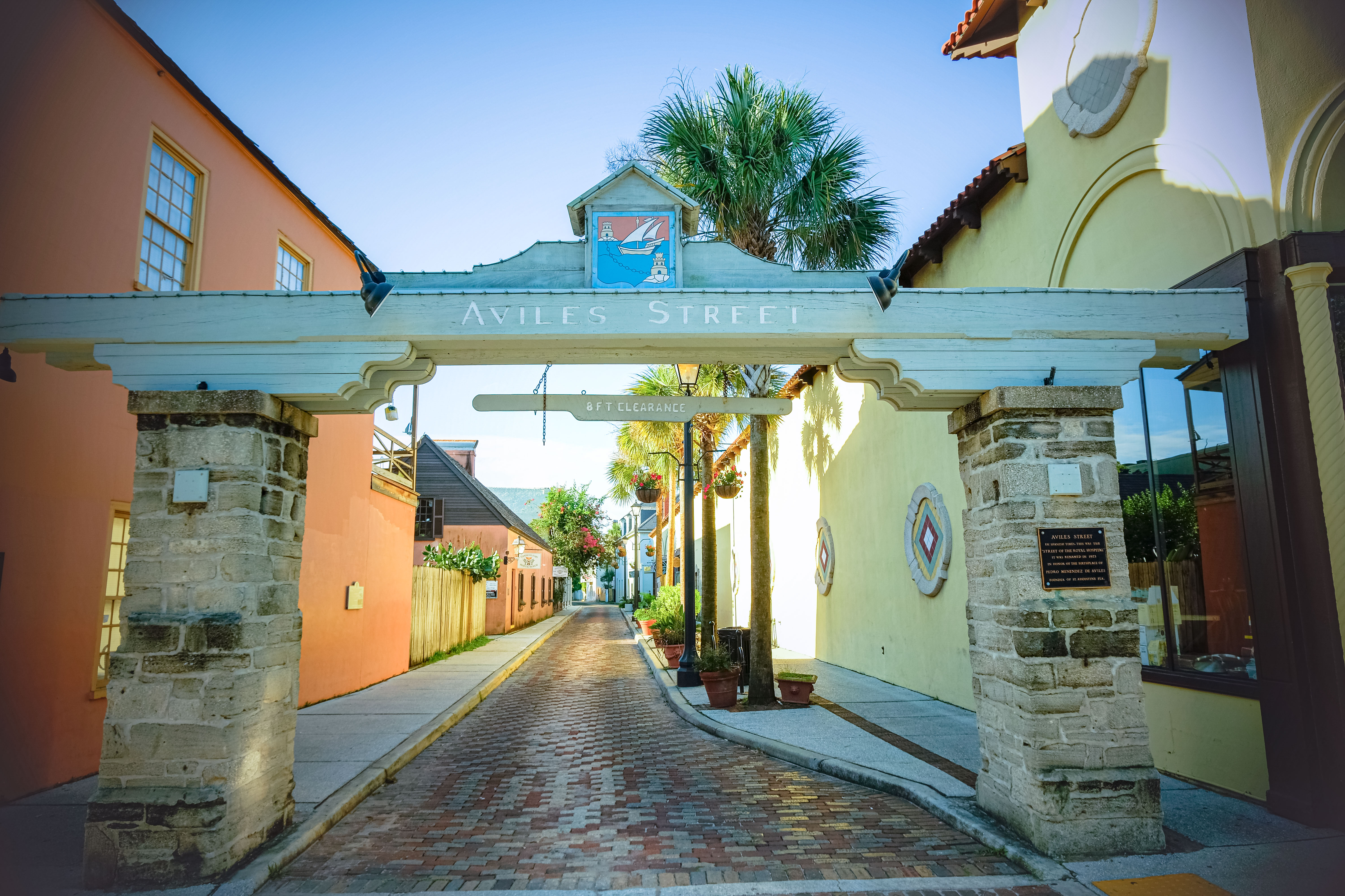 aviles street in self-guided walking tour of st augustine