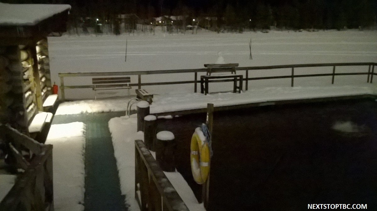 Ruka sauna and ice swimming
