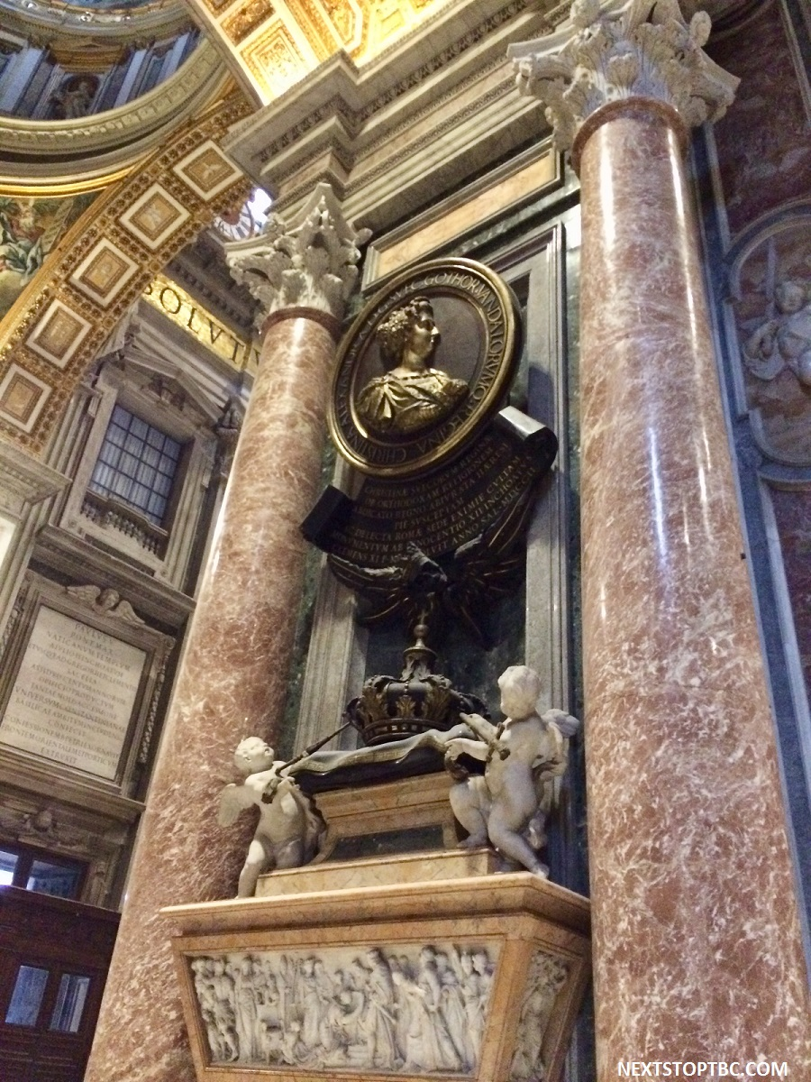 Queen Christina's memorial in St. Peter's Basilica