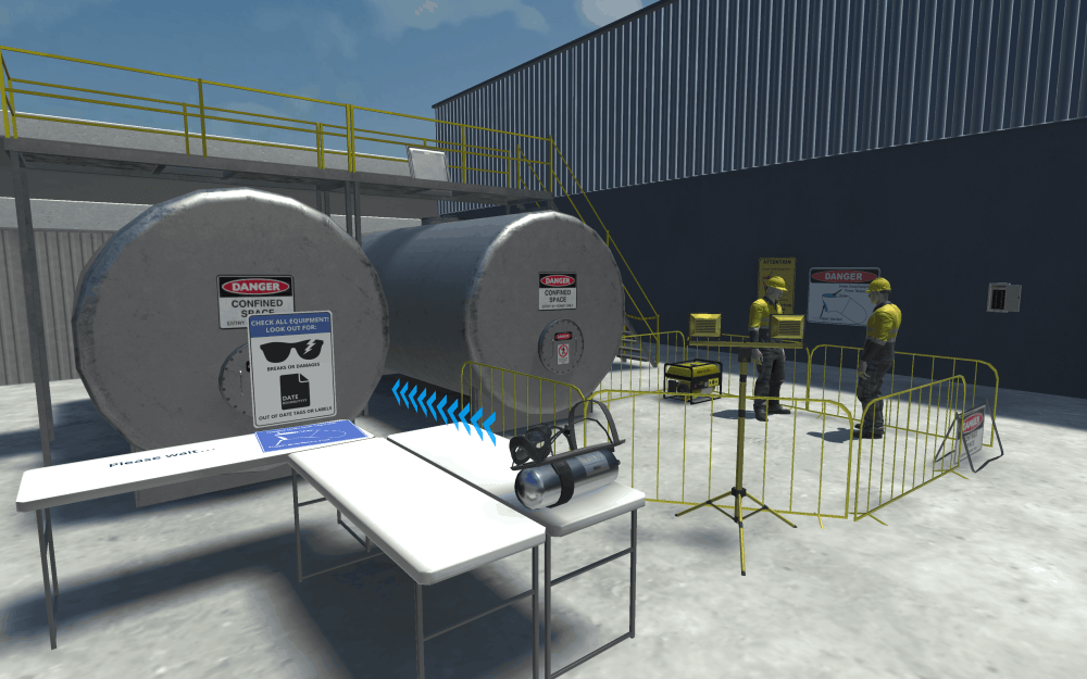 Confined Space Training screenshot in our VR training software