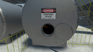 VR image of Confined Space Training