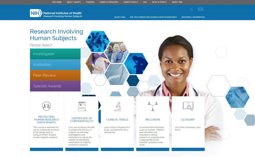 new portal to human subjects protections information nih