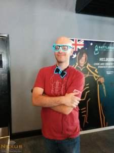 Jonathan LeBlanc rocking the neon bow-tie :)