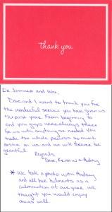 Audrey Thank You Card