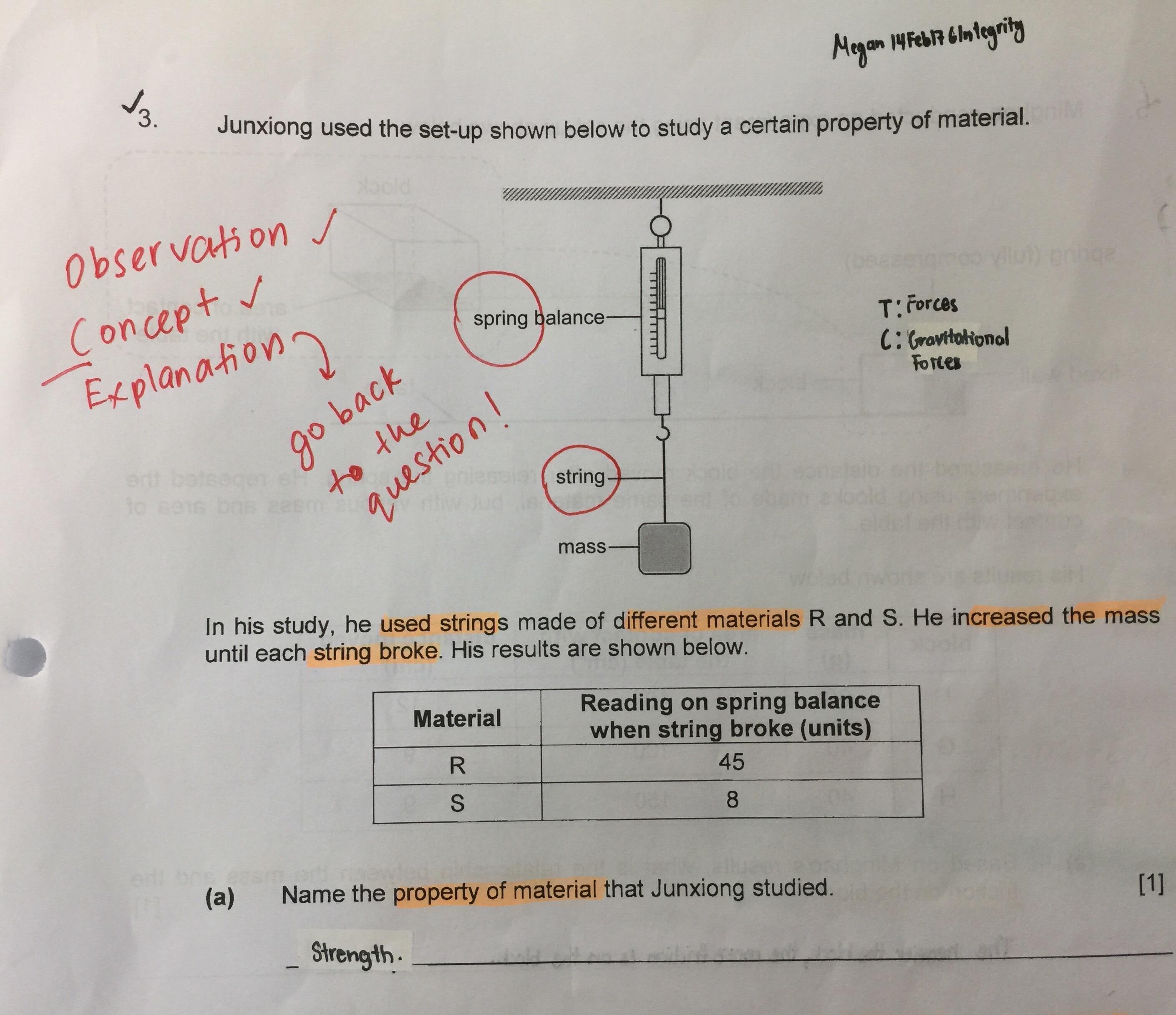 Science Friction Worksheet