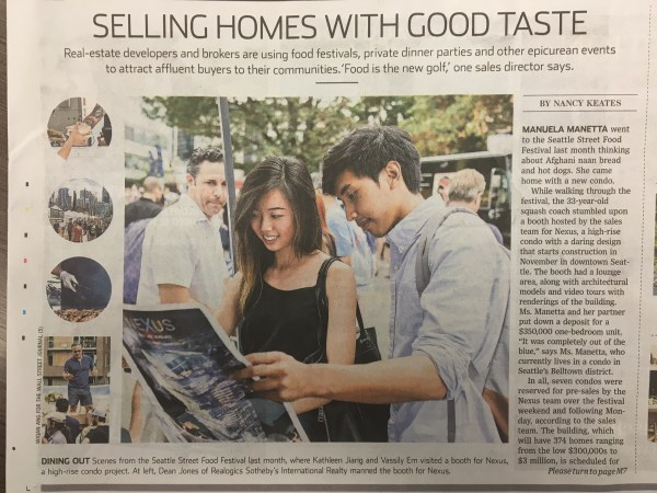 """How Food Festivals Sell Homes"": NEXUS is featured in The ..."