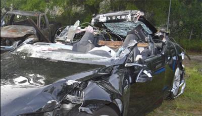 Accidented Tesla