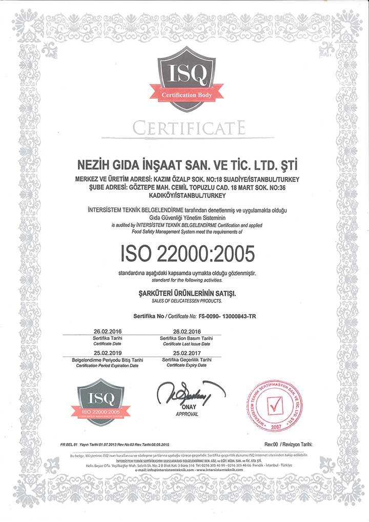 ISQ Sertifika – 2
