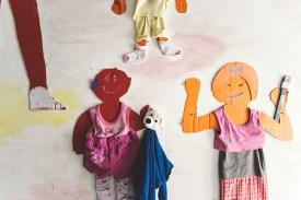 Kinder und Jugendliche der Gemeinschaftsunterkunft Singen