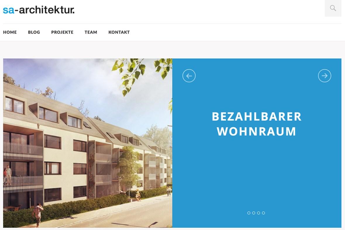 Webdesign Refresh für Architekturbuero