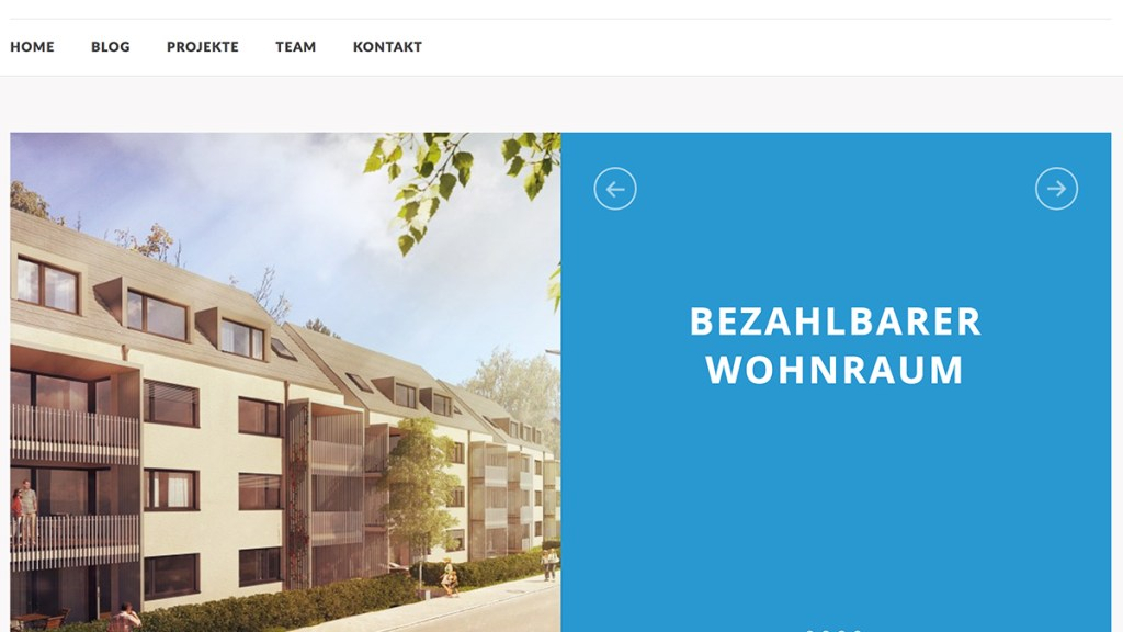 Webdesign Refresh für Architekturbuero