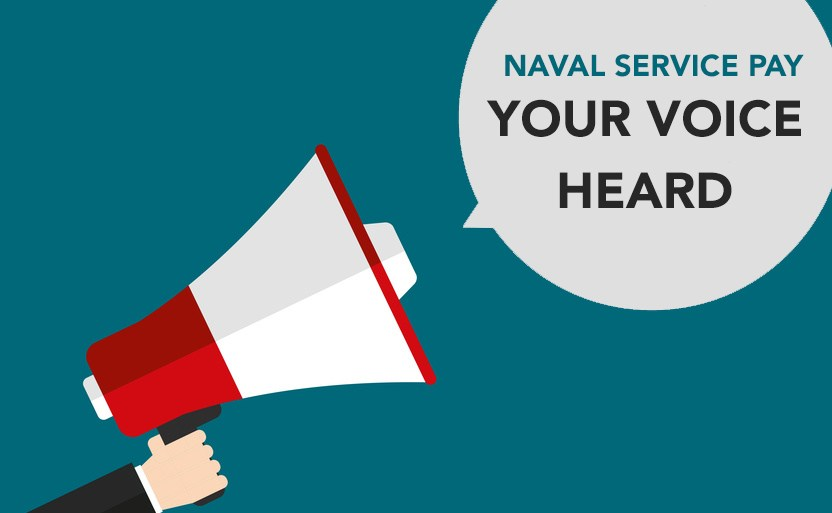 Naval service pay poster.