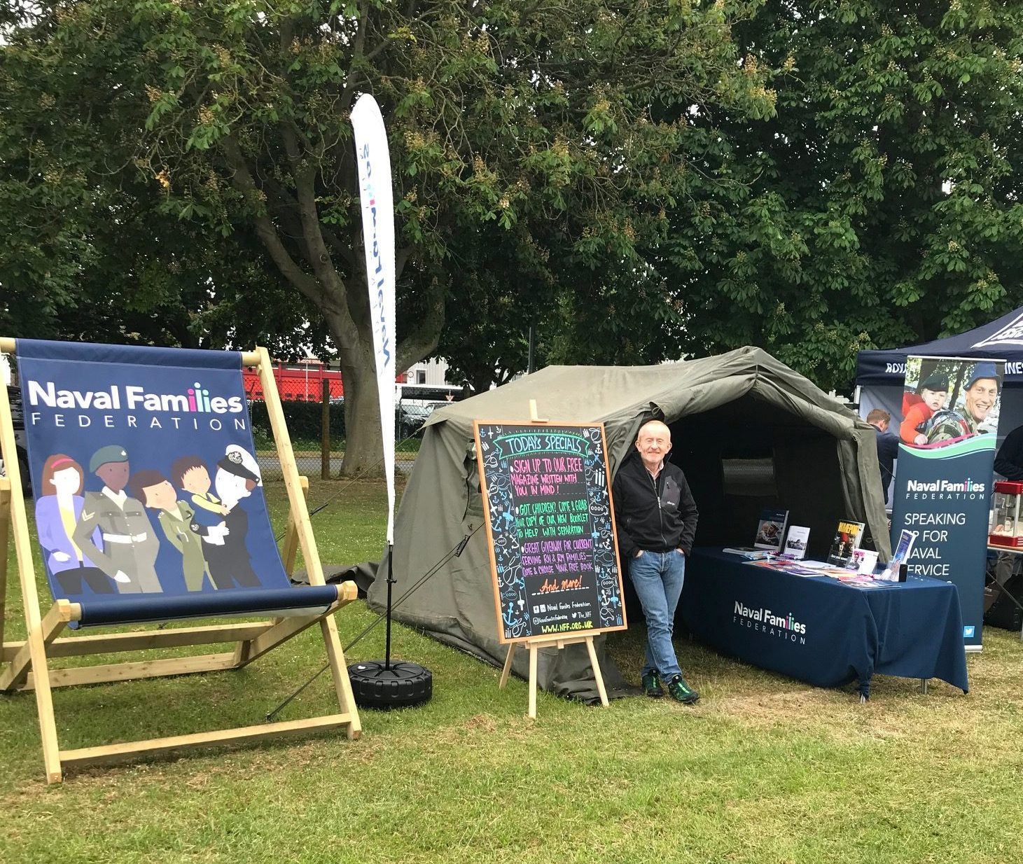 NFF stand at a families day.