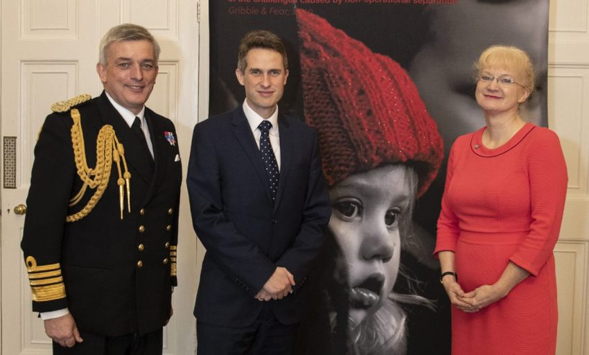 he Secretary of State for Defence Gavin Alexander Williamson and First Sea Lord Admiral Sir Philip Jones addressing guests at the Naval Families Federation