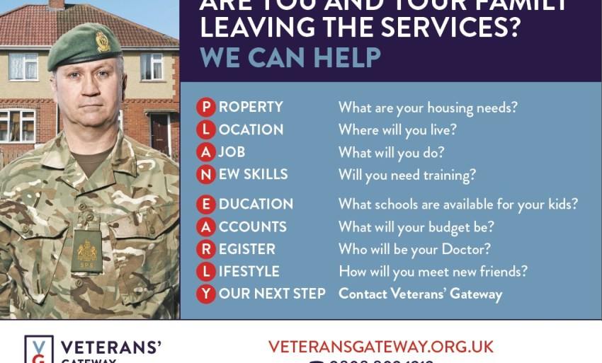 Leaving the services informational poster.