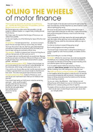 Homeport article on motor finance
