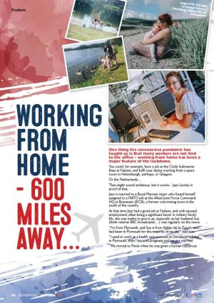 Homeport article from Autumn 2020 - Working from Home - 600 miles away