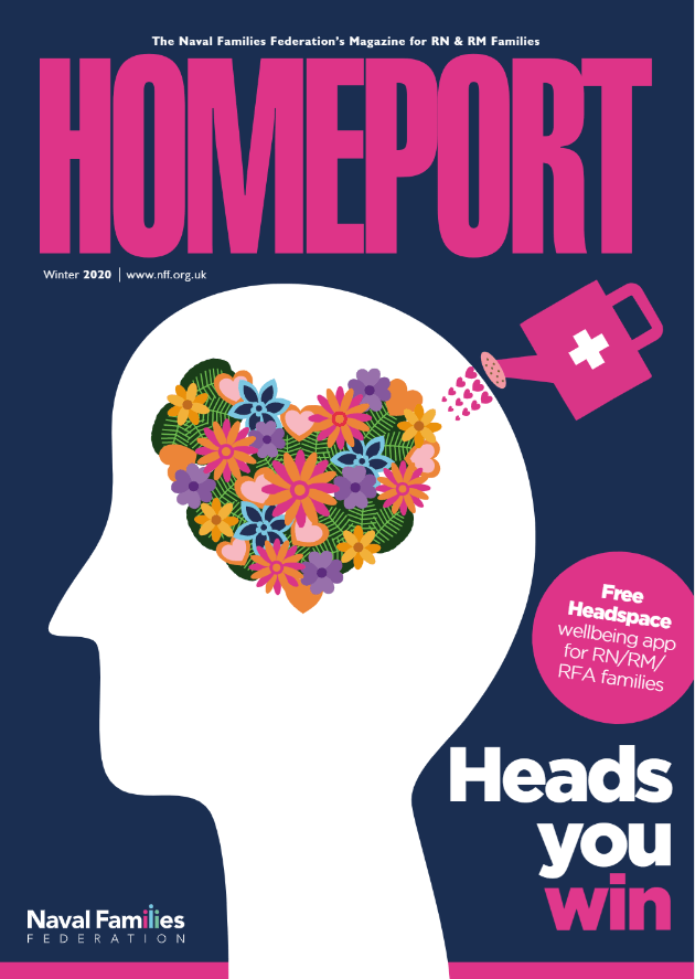Front cover of Homeport magazine (Winter 2020 edition)