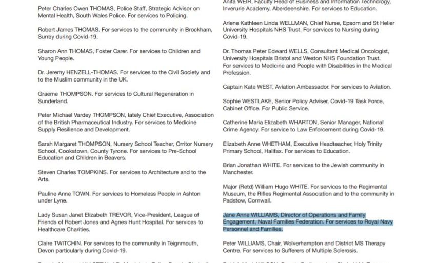 The Queen's Birthday Honours list 2021 - p.24 from London Gazette