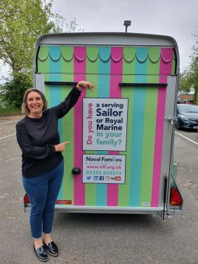 Jane with NFF's new resource trailer.