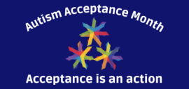 The Autism Acceptance Month logo