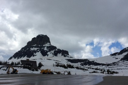 Logan Pass parking lot