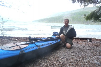 After a long day paddling hiking and paddling in the Kintla Lake drainage