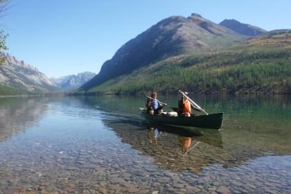 Canoeing Kintla Lake